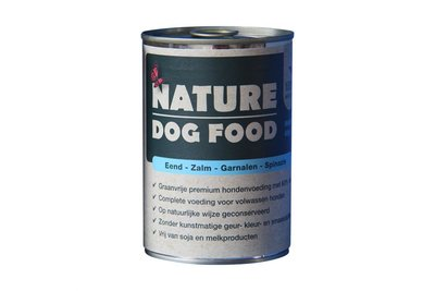 Nature Dog Food met Eend & Zalm 400 gram