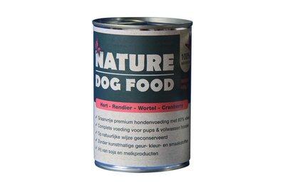 Nature Dog Food met Hert en Rendier 400 gram