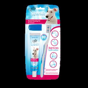AFP Sparkle Combo Pack (Brush, Finger Brush) (hondentandpasta en tandenborstels)